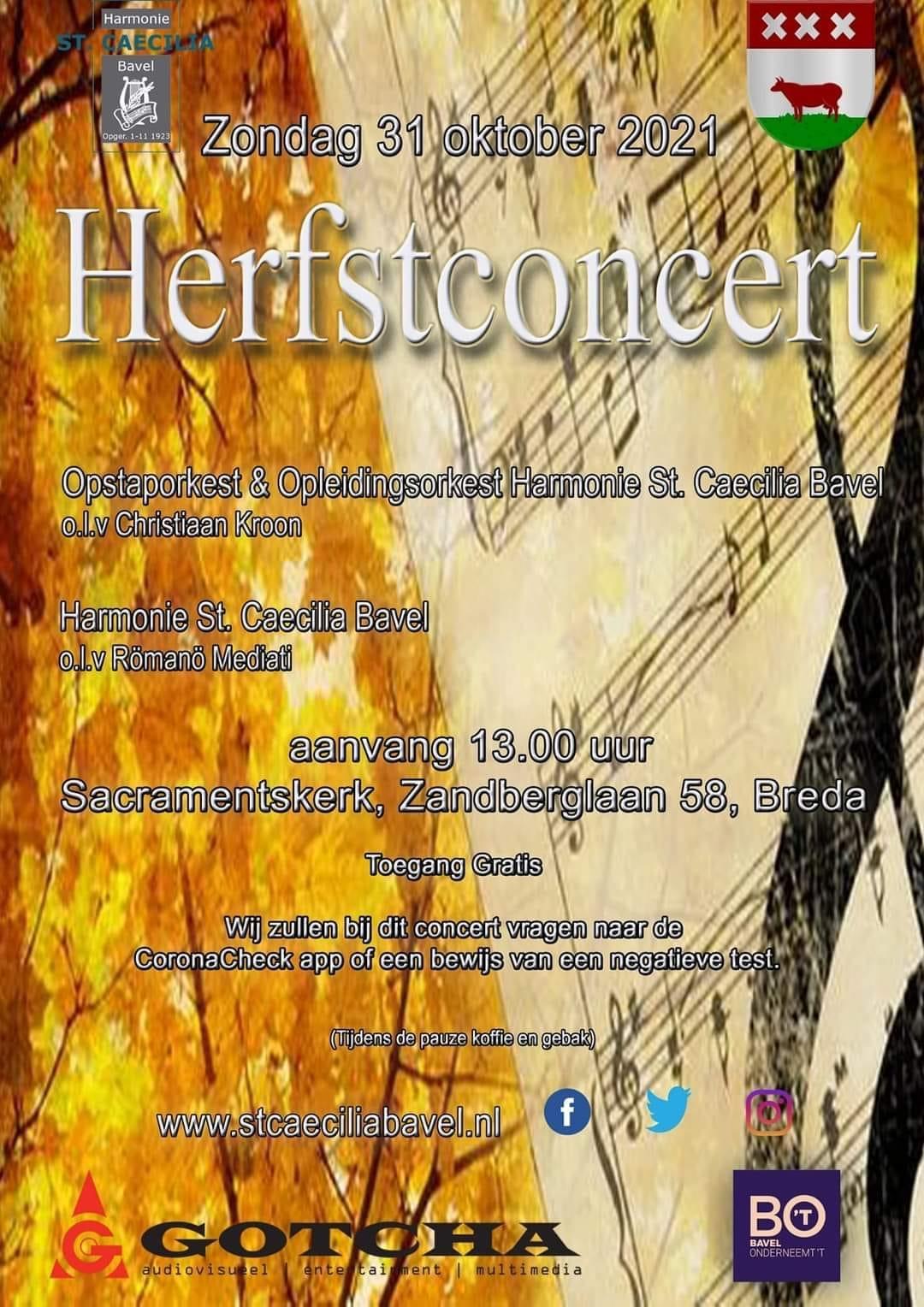 Herfstconcert @ Sacramentskerk aan de Zandberglaan in Breda